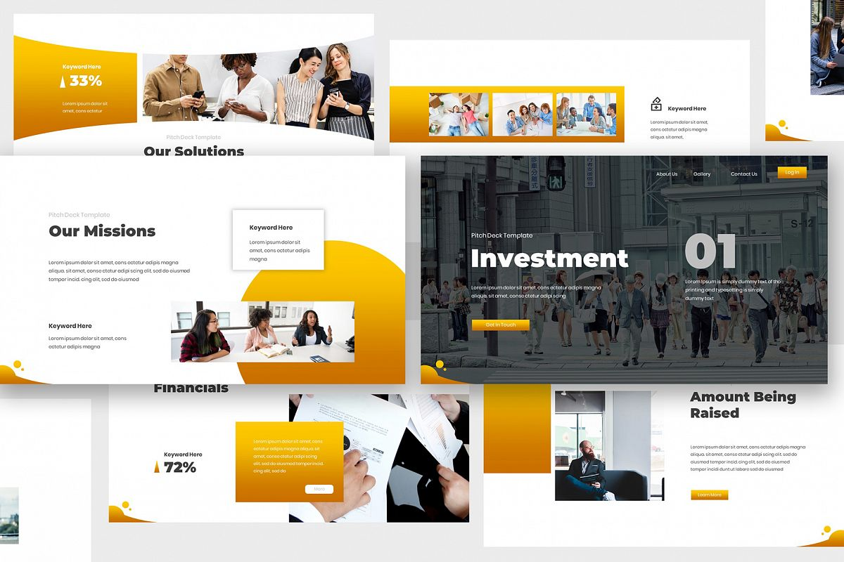 Investment Pitch Deck Keynote example image 1