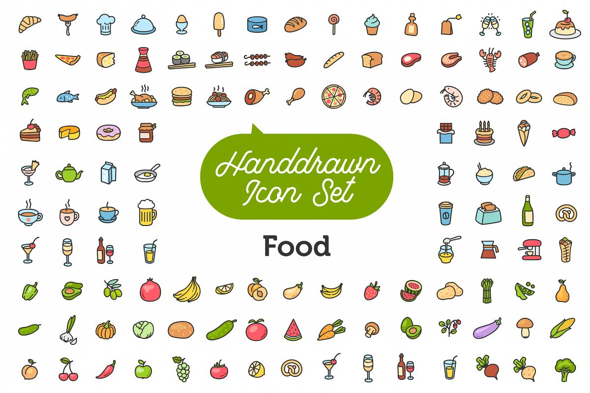Food Icon Set example image 1