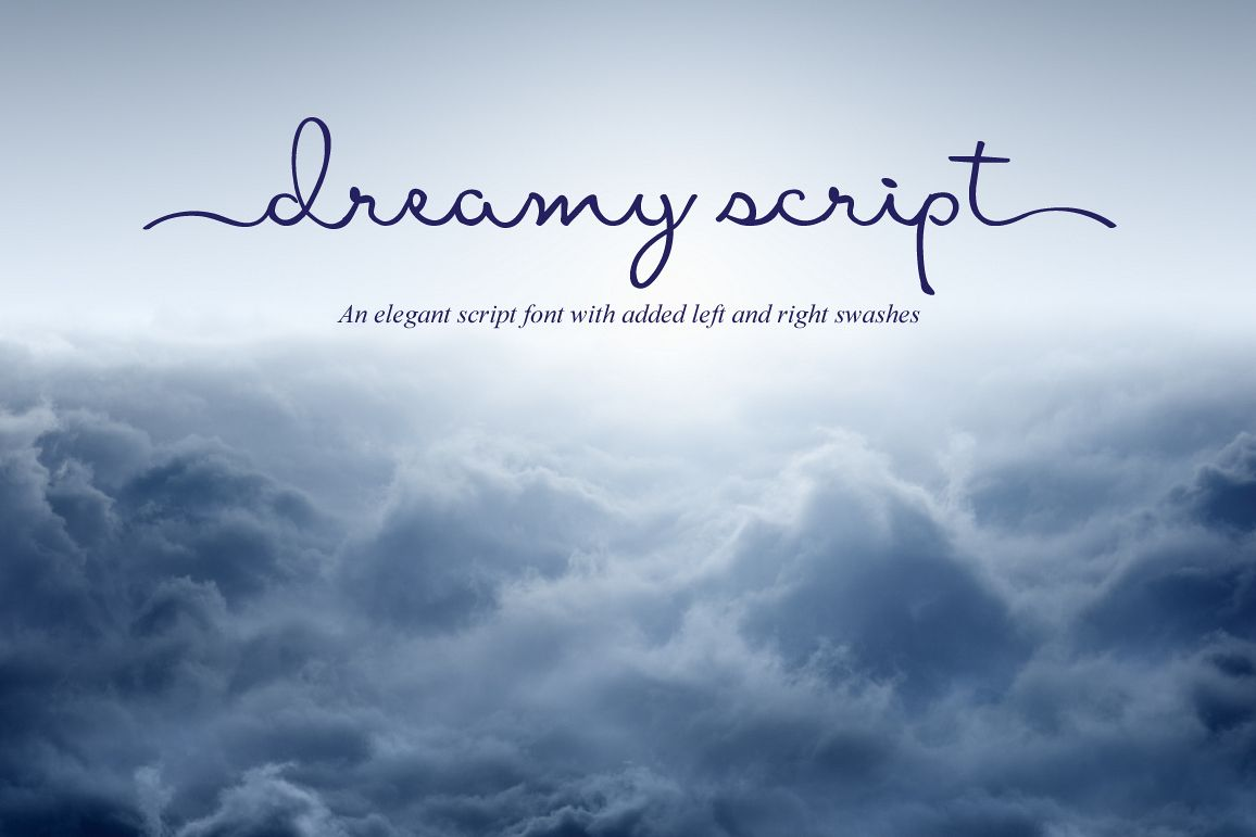 Dreamy Script Swash Font example image 1
