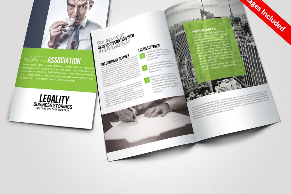 Multi Use Business Bi Fold Brochures Templates
