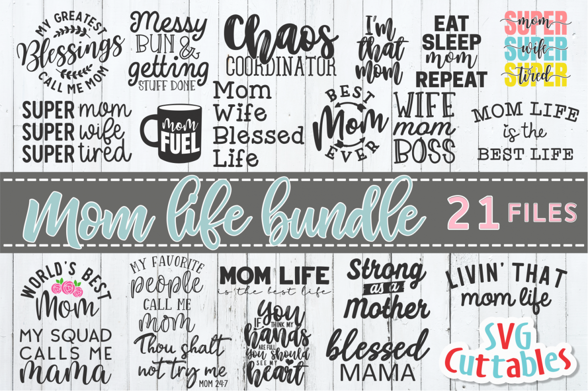 Mom Life SVG Bundle | Mother's Day | SVG Cut Files example image 1
