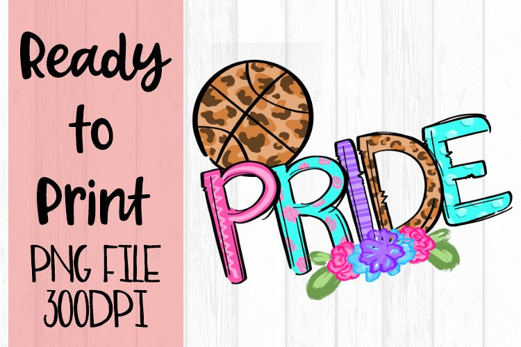 Doodle Basketball Pride Ready to Print example image 1
