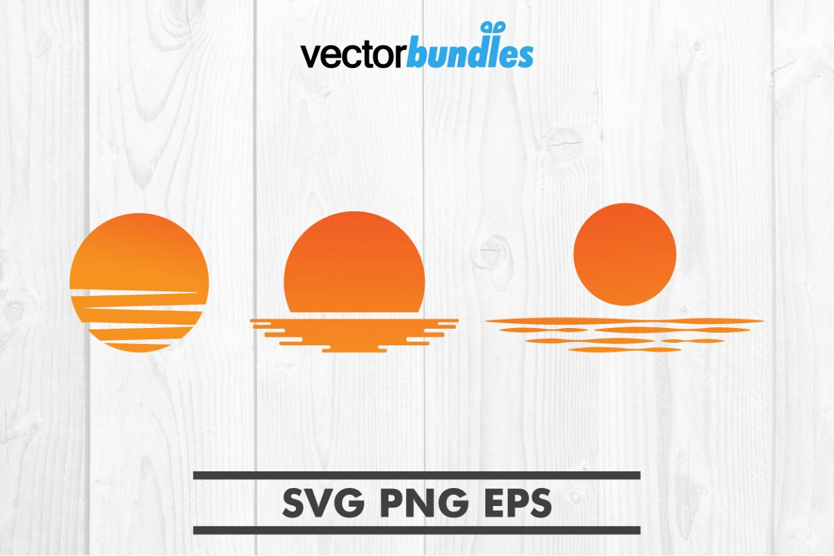 Sunset clip art svg example image 1