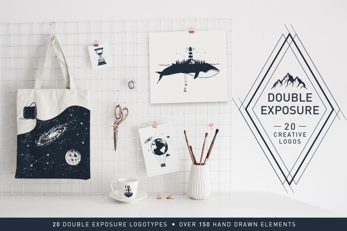 Double Exposure. 20 Creative Logos example image 1