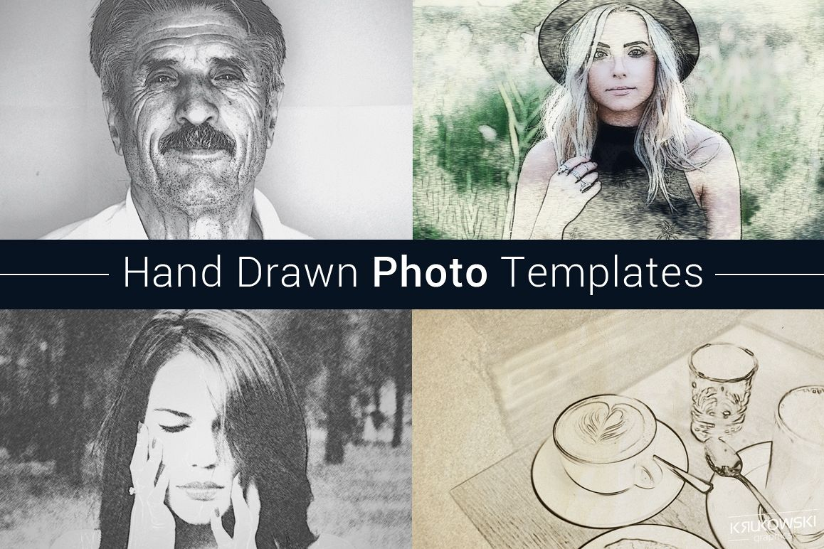 Hand Drawn Photo Template example image 1