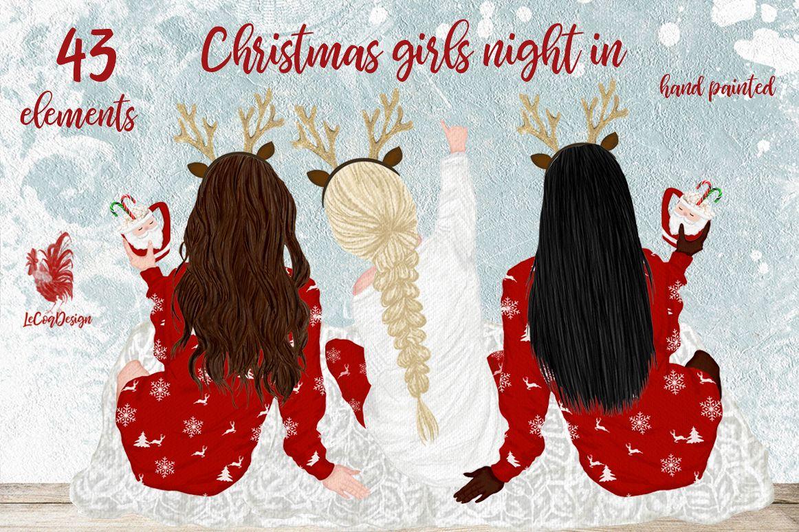 Christmas clipart, Girls Clipart, Planner Girls,Custom Girls example image 1