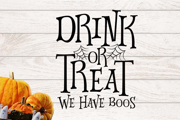 Drink or Treat we have boos Halloween SVG example image 1