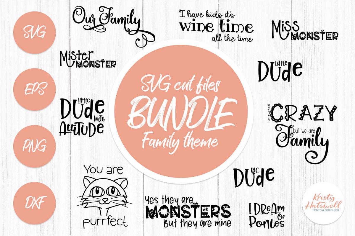 SVG Bundle Family SVG cut files example image 1