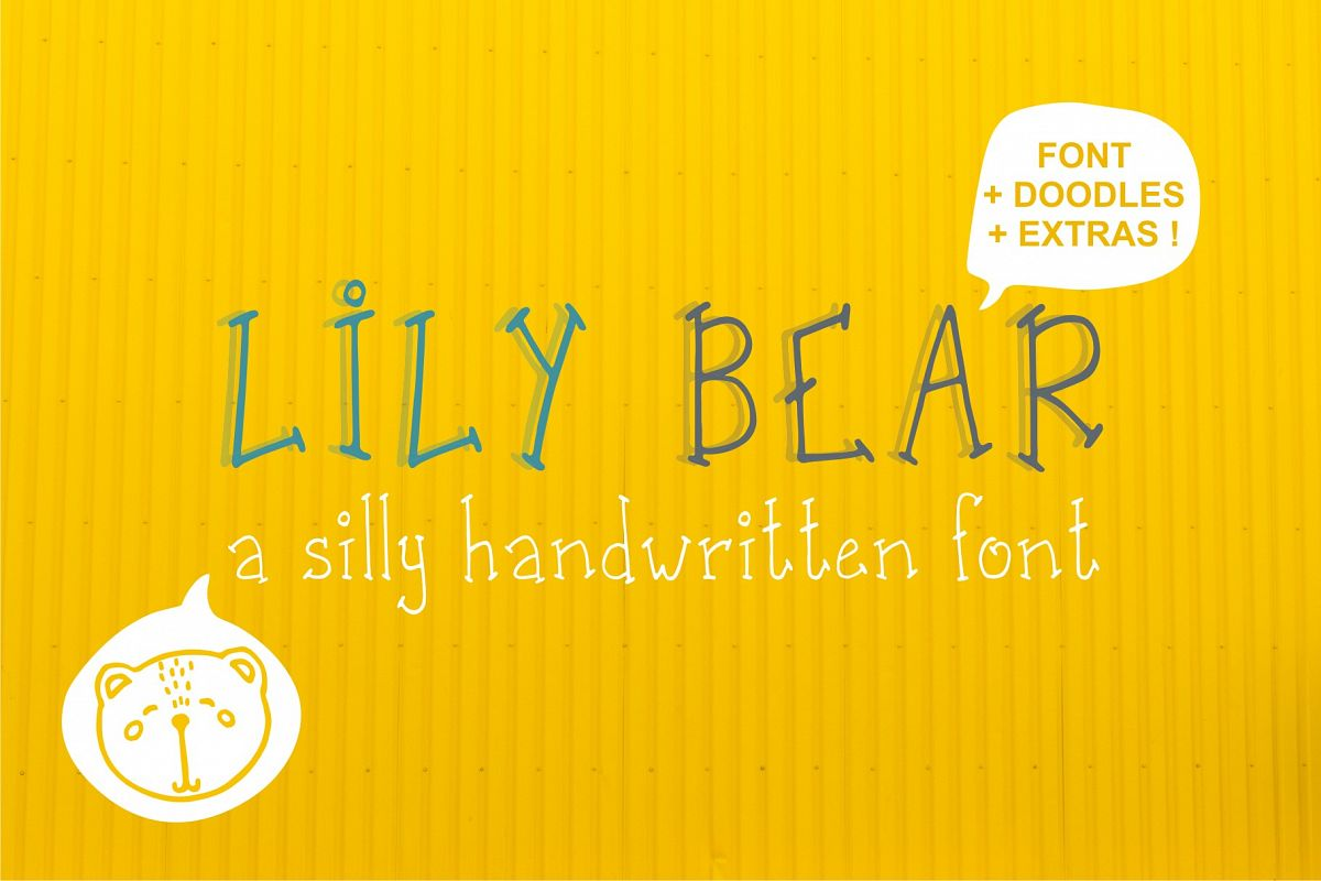 Lily Bear font and doodles example image 1