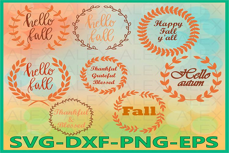 Hello Fall Svg, Thanksgiving SVG, Autumn Svg, Fall svg example image 1