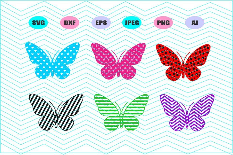 Butterfly Pattern Svg Vector File Cricut Design Vinyl Decal Gorgeous Butterfly Pattern