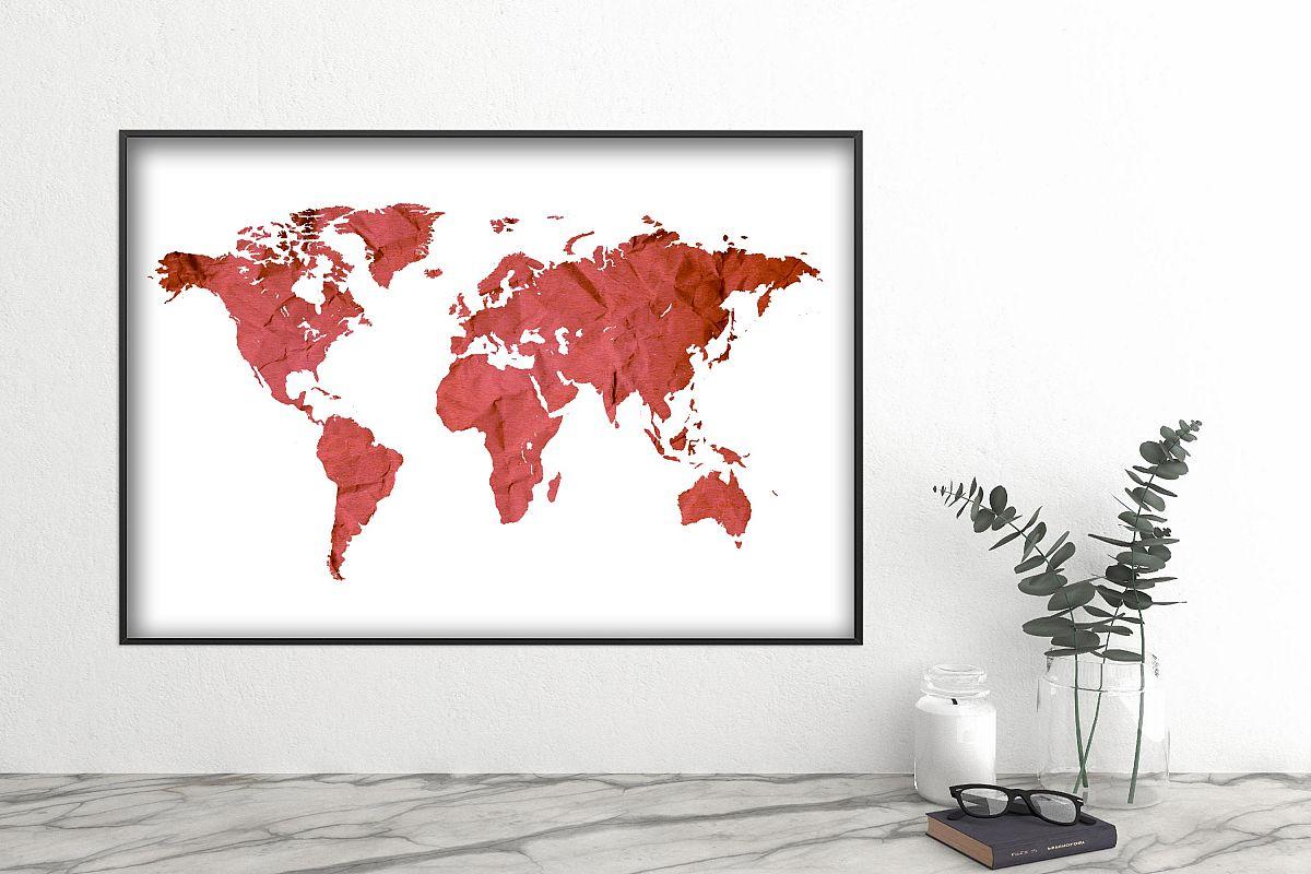 World map wall art printable download files example image 1