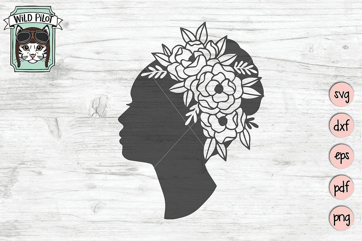 Womans Profile SVG, Womans Face Cut file, Female svg file example image 1