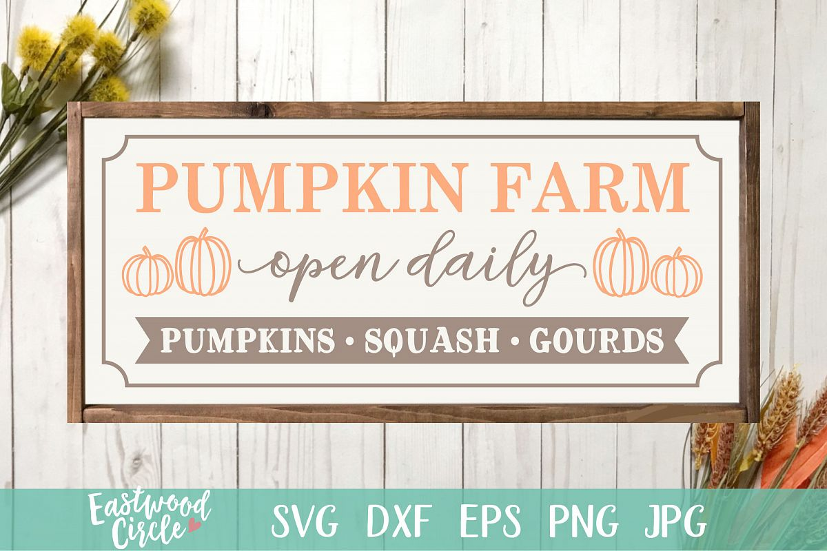 Pumpkin Farm - Fall SVG File for Signs example image 1
