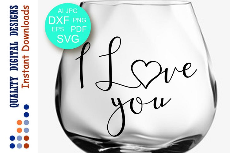 I love you sign svg files Valentines day example image 1