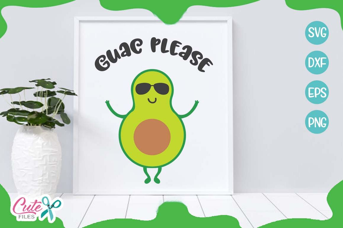 Guac please svg, mexican food svg cuts files example image 1