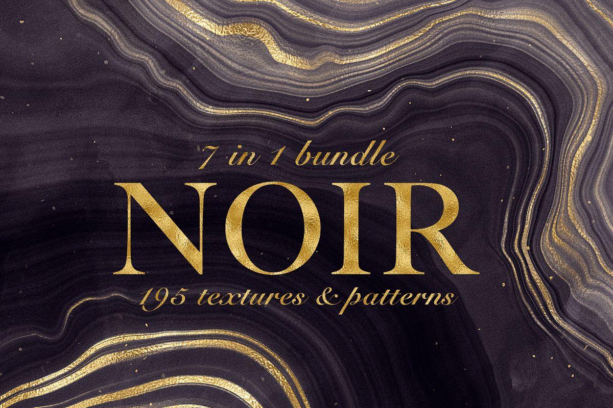 Noir - Patterns & Textures Bundle example image 1