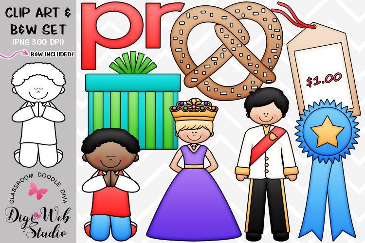 Clip Art / Illustrations - R Blends - pr Phonics example image 1