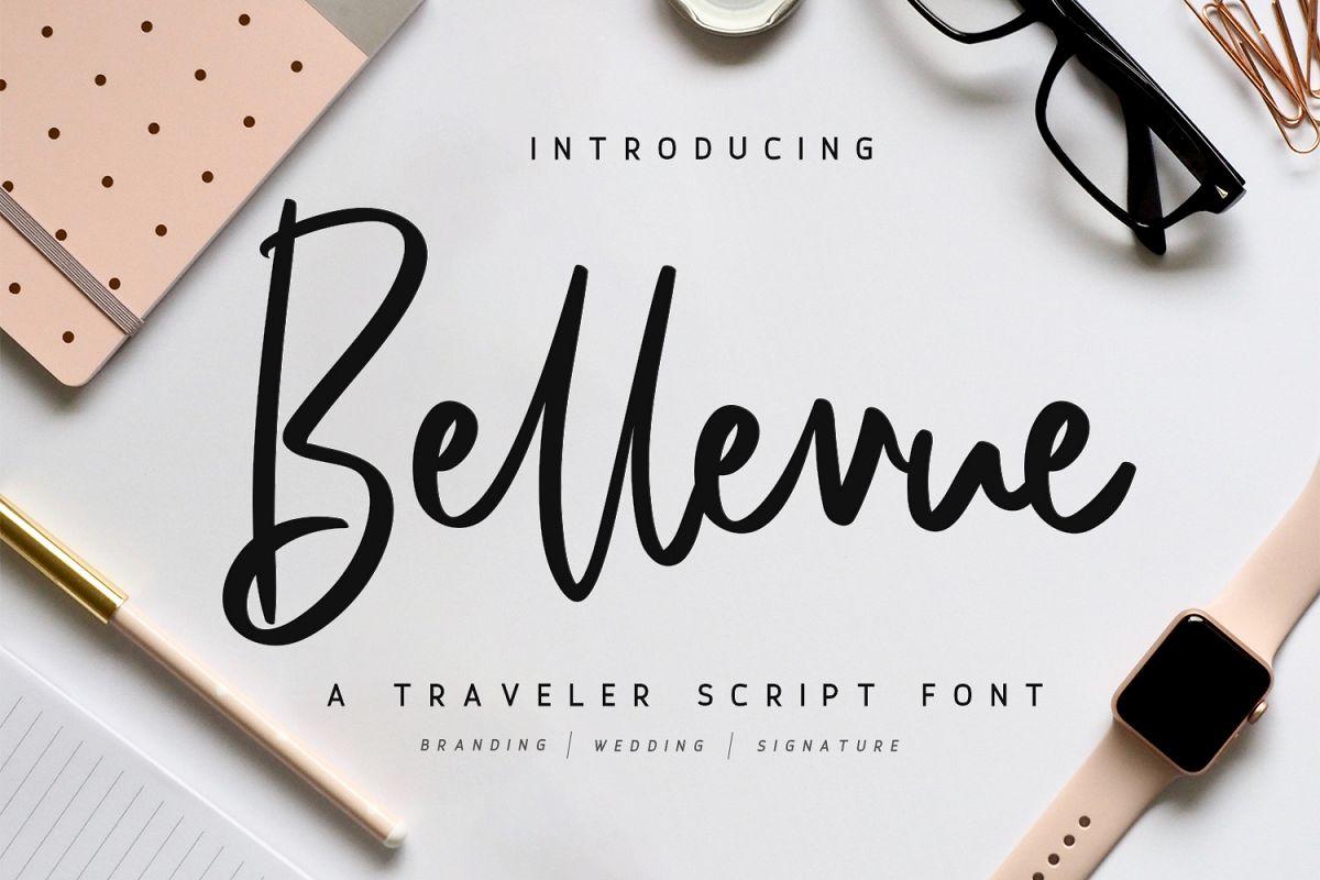 Bellevue // A Traveler Script Font example image 1