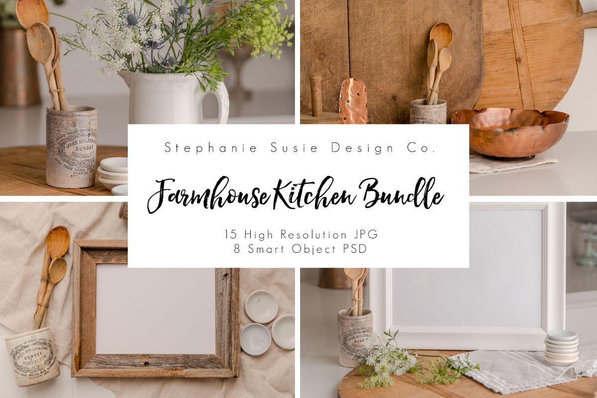 Farmhouse Kitchen Mock Up Bundle example image 1