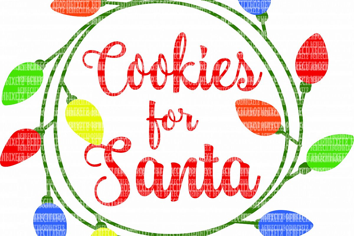 Cookies for Santa SVG Files for Cricut Design Space and Silhouette Studio Christmas Cookie Plate DXF for Commercial Use Scrapbooking example image 1