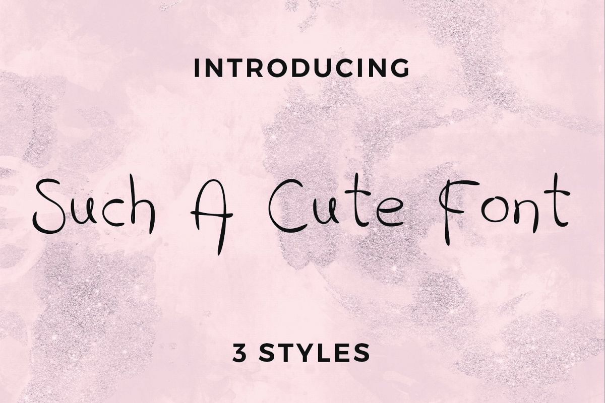 Such A Cute Font example image 1