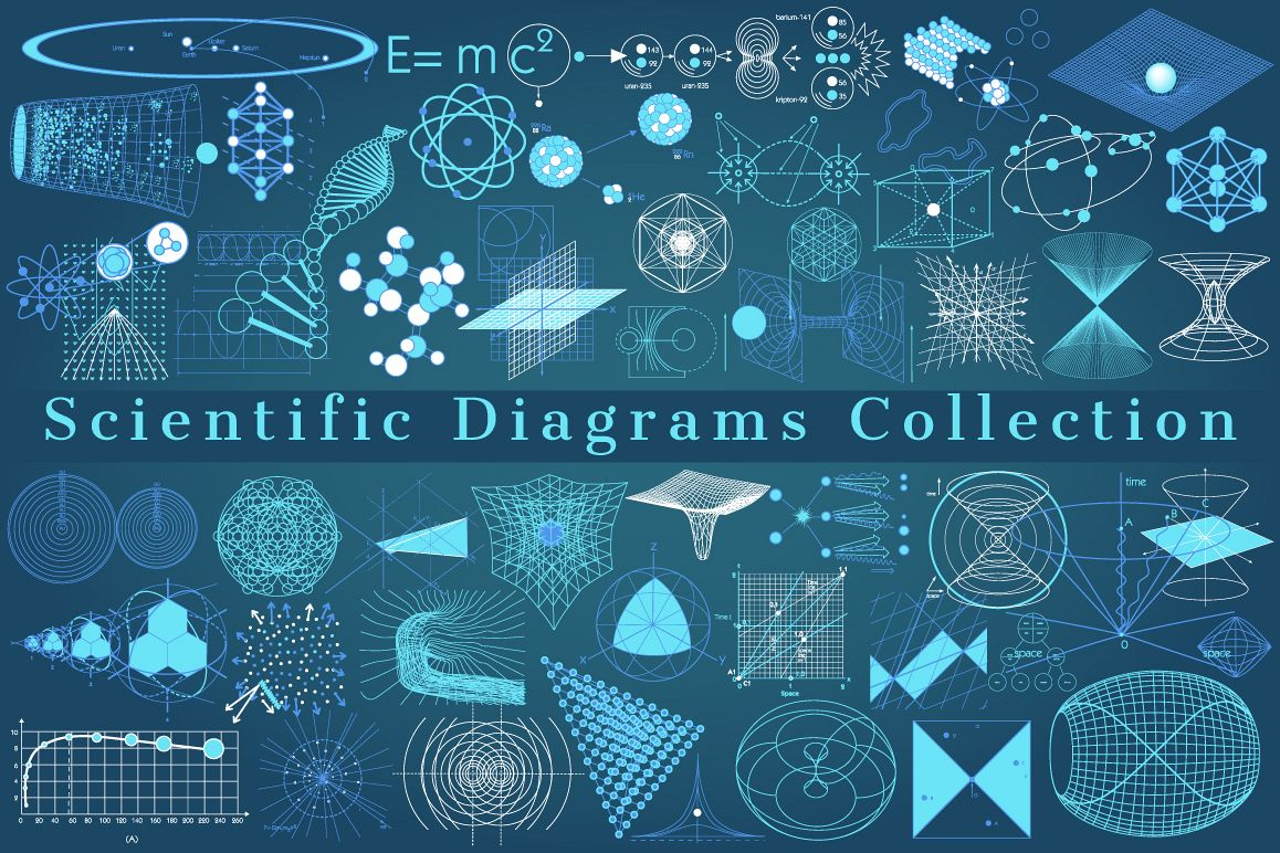 SCIENTIFIC Diagrams Collection by ekaart | Design Bundles