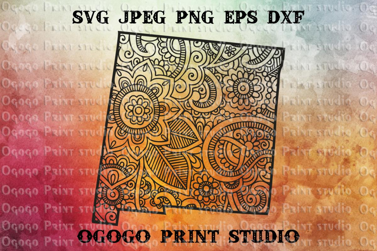New Mexico SVG, Zentangle SVG, Travel svg, Mandala svg example image 1