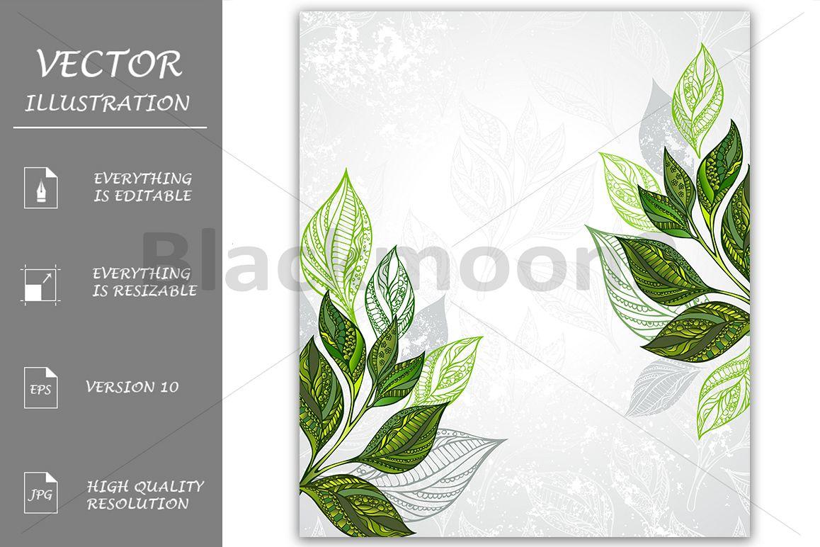 Tea Design ( Tea Background ) example image 1