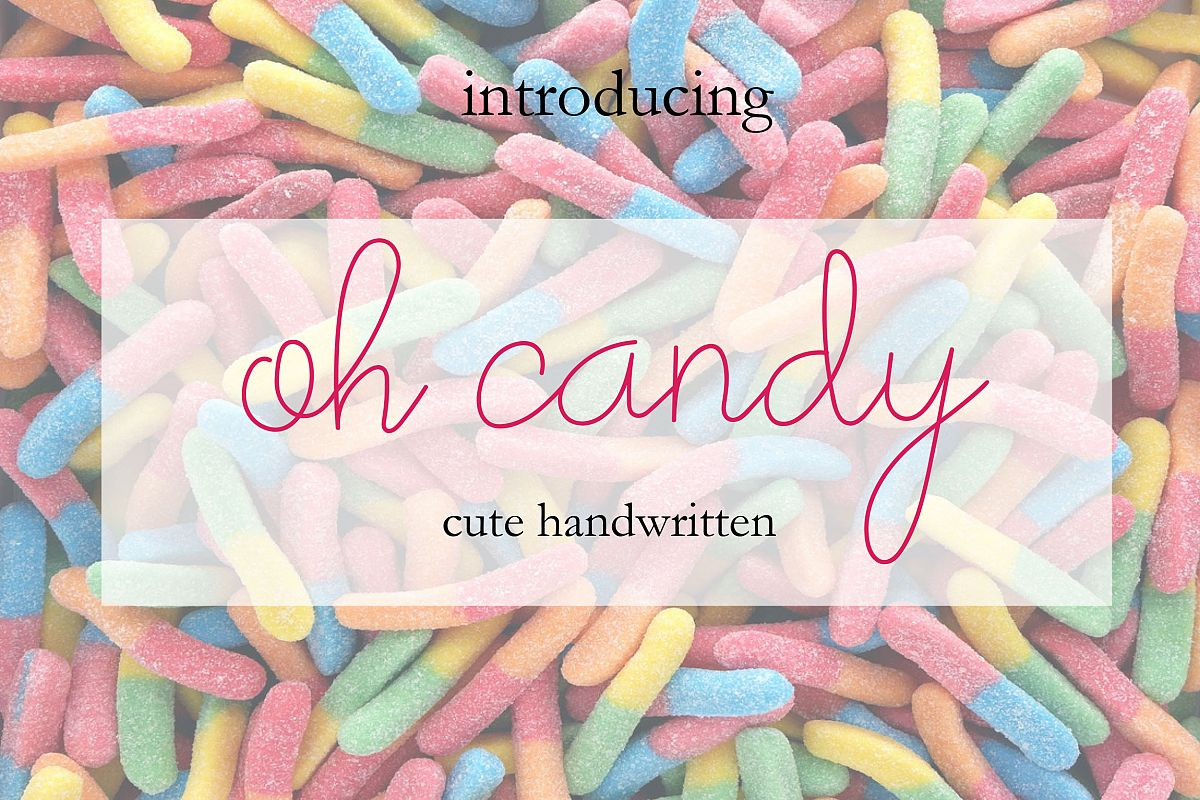 Oh Candy | Cute Handwaritten example image 1