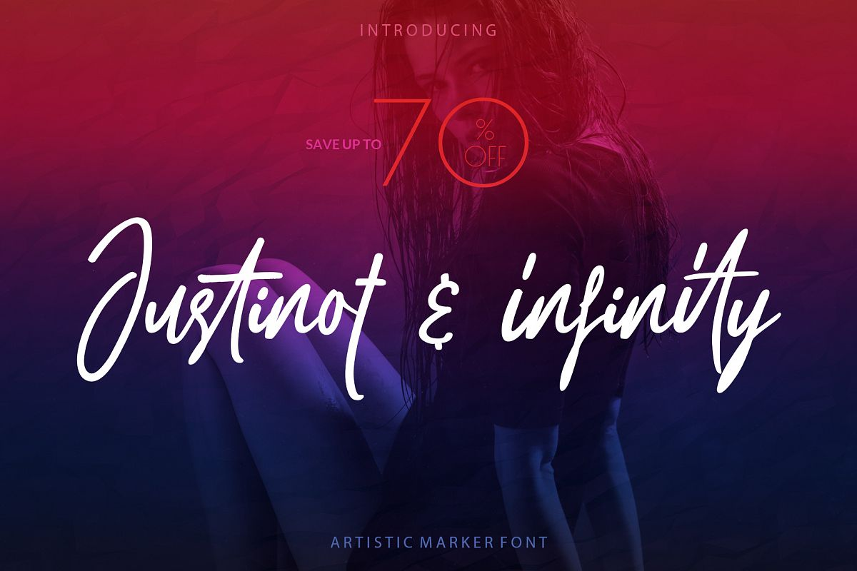 Justinot Infinity Marker Font example image 1