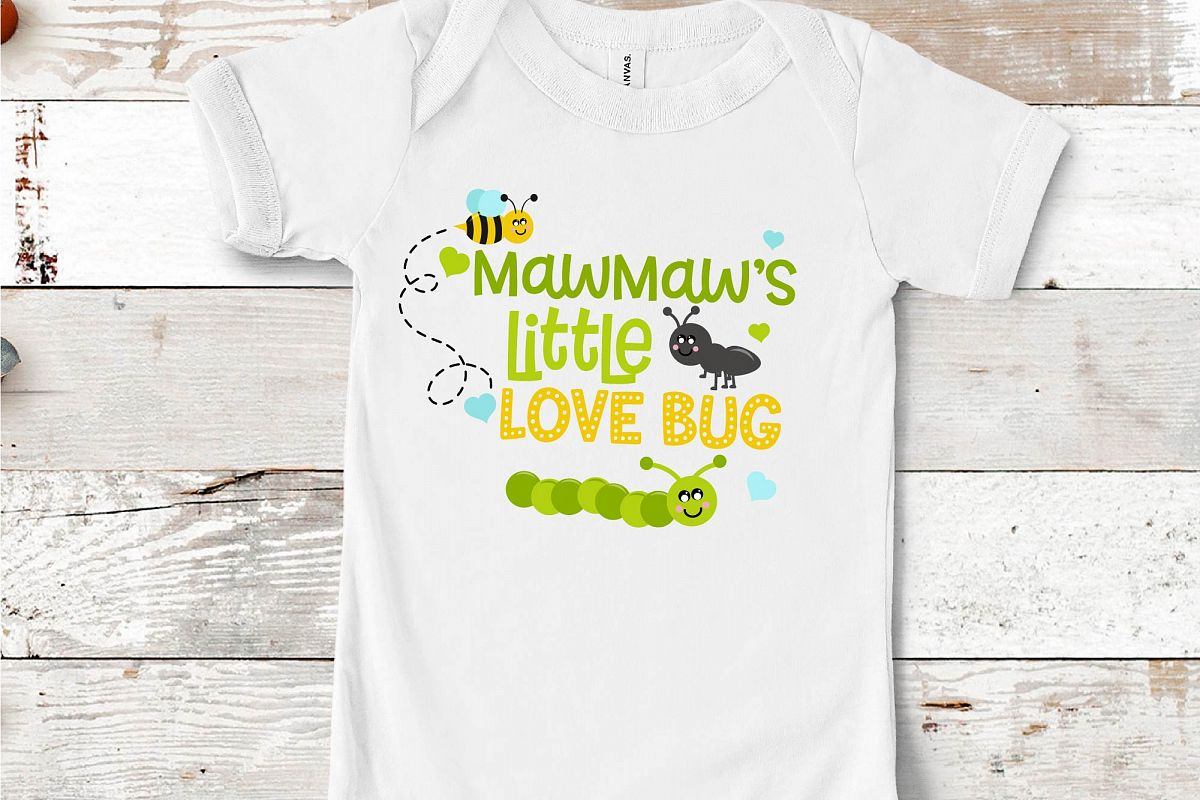 Valentine's Day SVG Little Love Bug, MawMaw's Love Bug SVG example image 1
