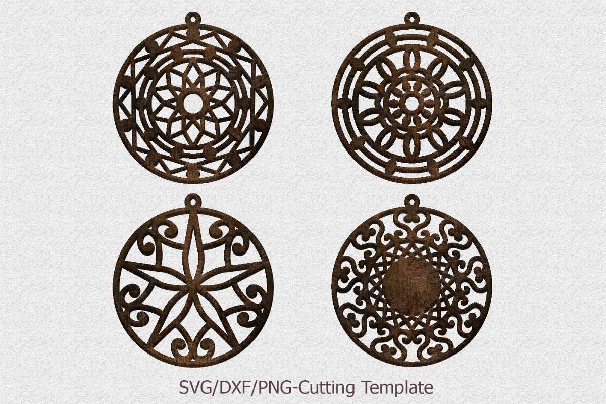 Favoriete Laser cut wood leather earrings mandala earrings templates @QR35