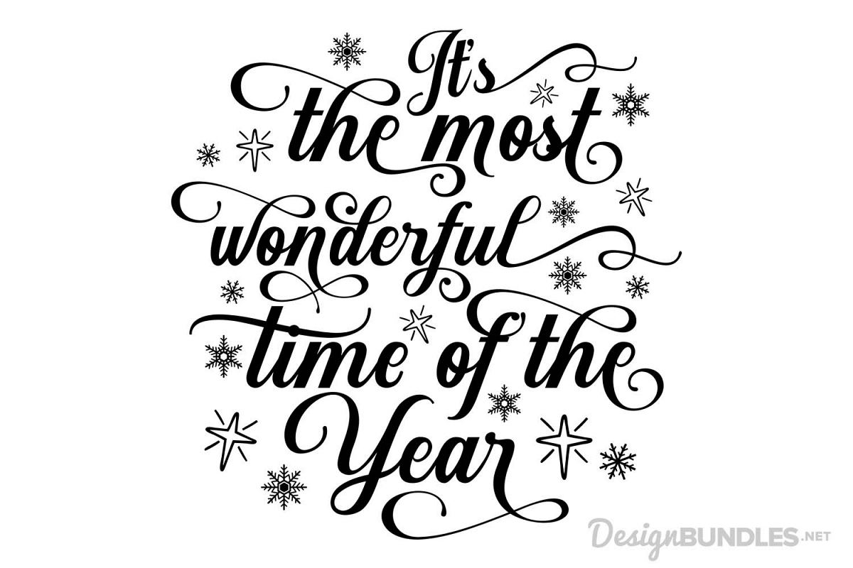 It's the Most Wonderful Time of the Year - SVG - photo#41