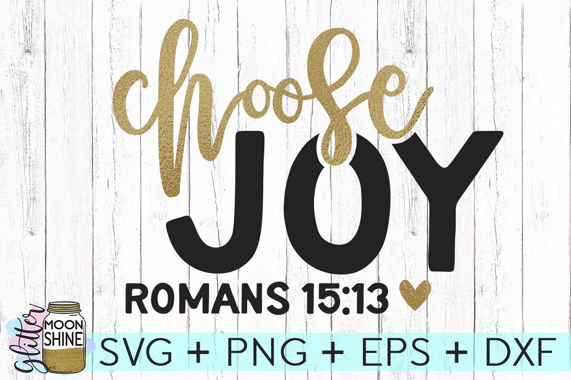 Choose Joy SVG DXF PNG EPS Cutting Files example image 1