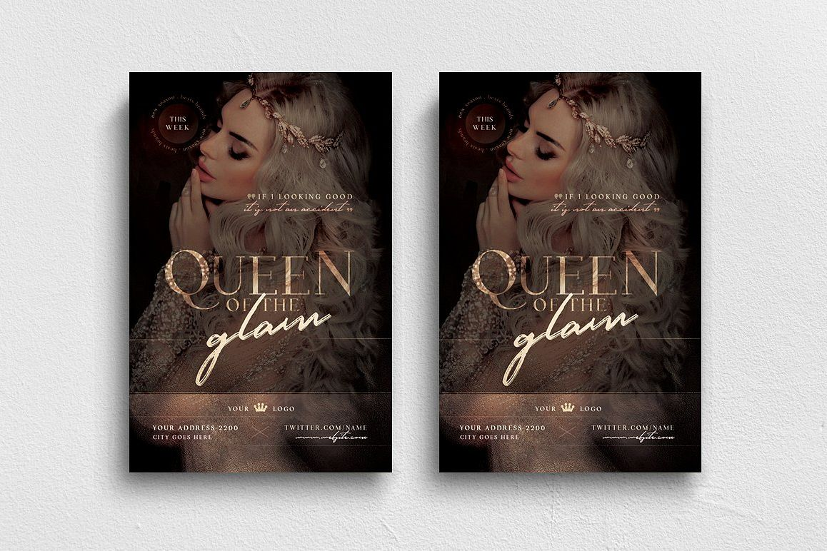Queen Of The Glam Flyer Template example image 1