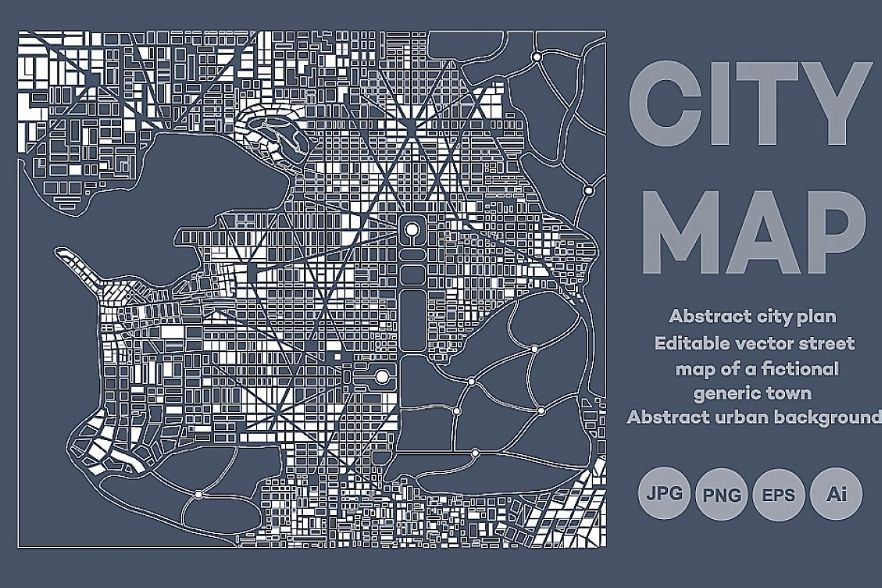 Abstract city map plan example image 1