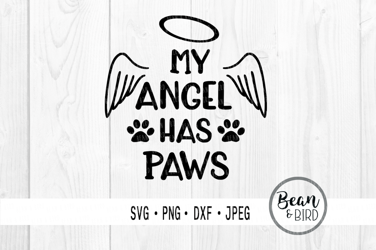 My Angel has Paws Pets Cut file example image 1