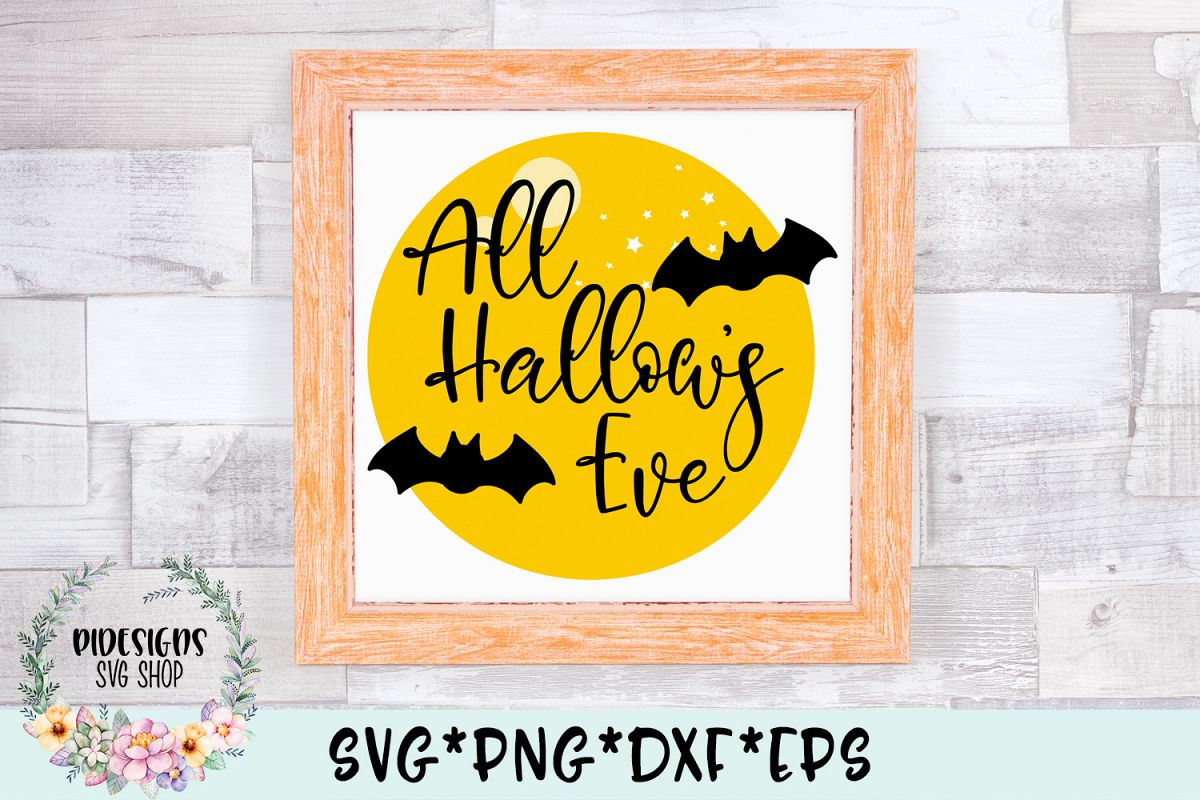 All Hallow's Eve Halloween Frame SVG Cut File example image 1