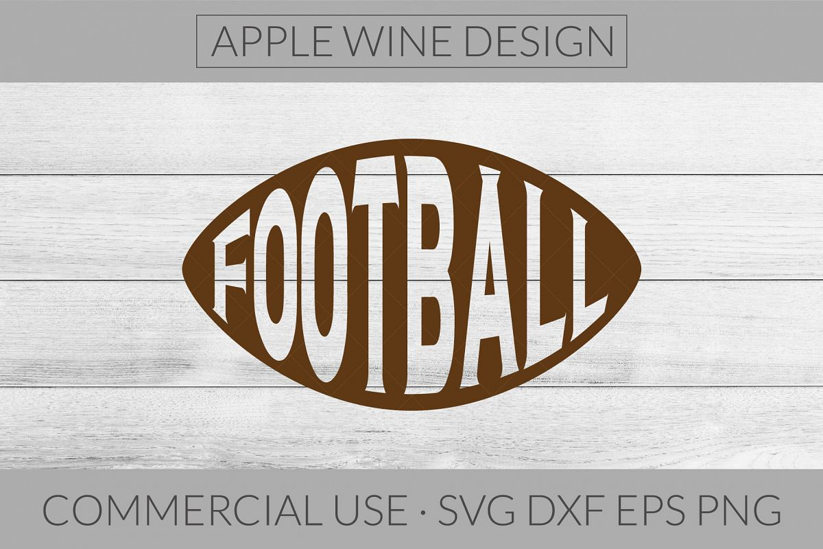Football Cutout SVG DXF PNG EPS Cutting File example image 1