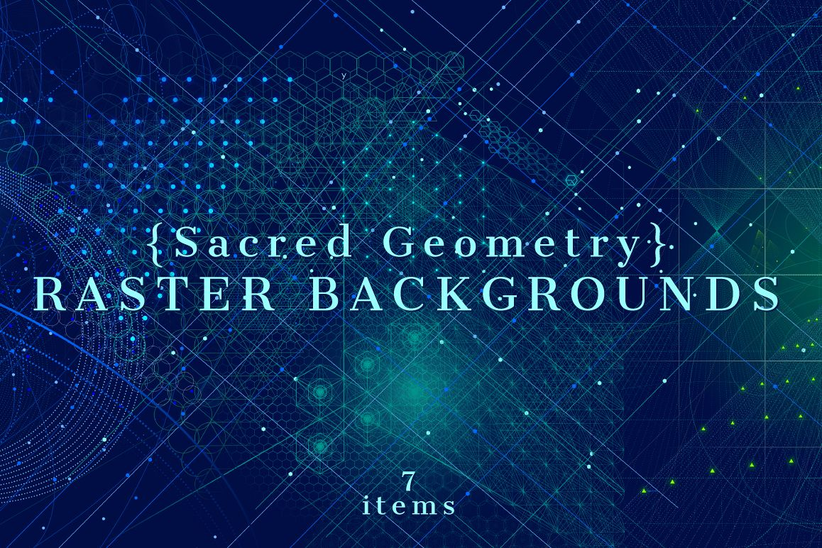 {Sacred Geometry} Raster Backgrounds example image 1