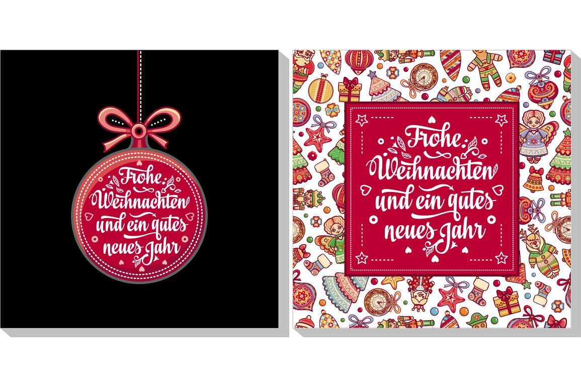 Happy Christmas in Deutschland. Neues Jahr. Frohe Weihnacht ...