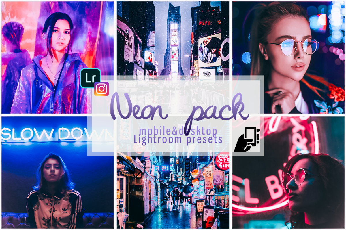 Neon preset lightroom mobile pc instagram effects filter example image 1