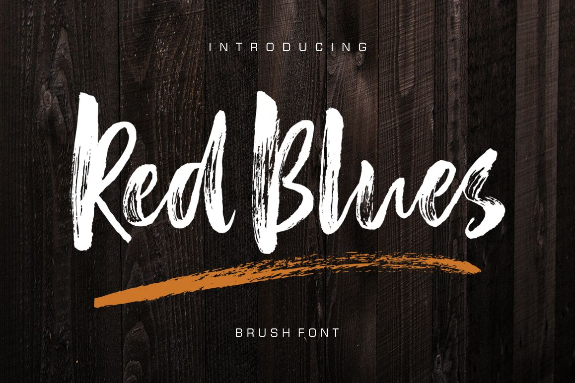 Red Blues Brush Font example image 1