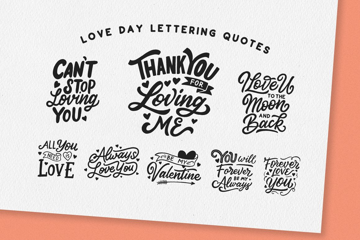 Love Day Lettering Quotes example image 1