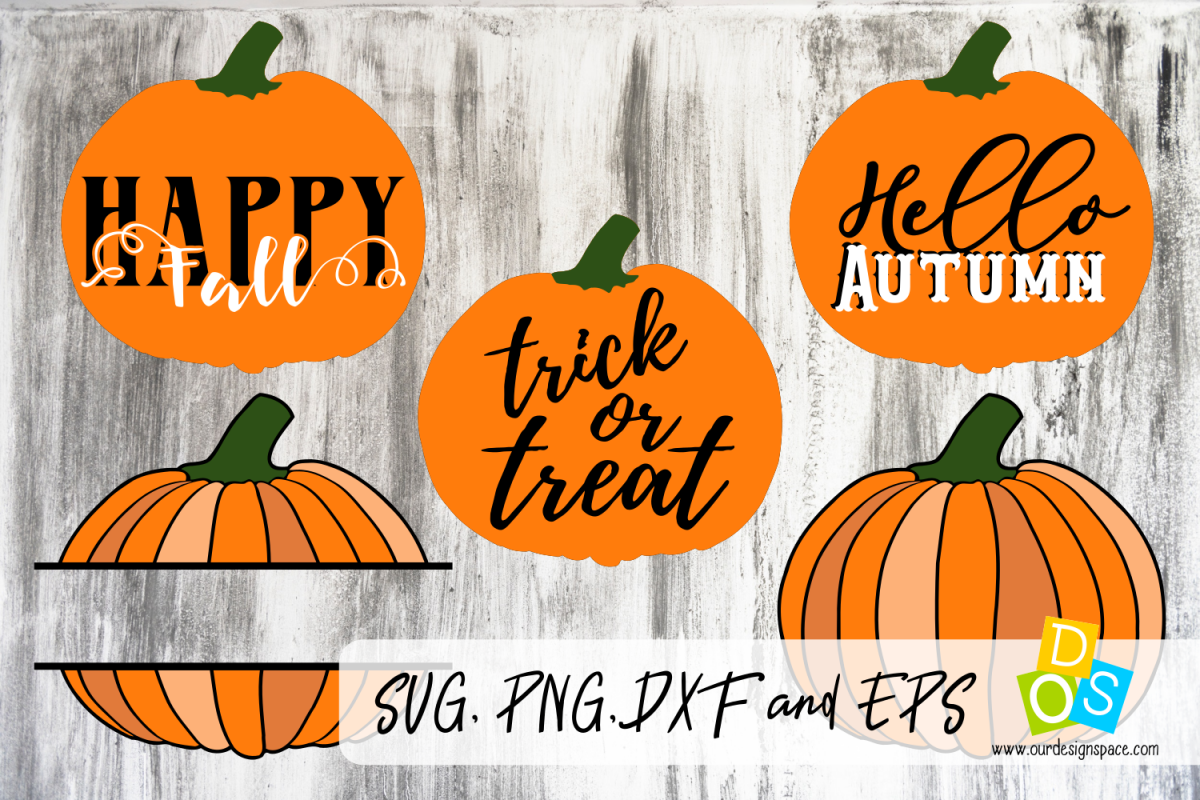 5 Pumpkings svg,eps,dxf and png images example image 1