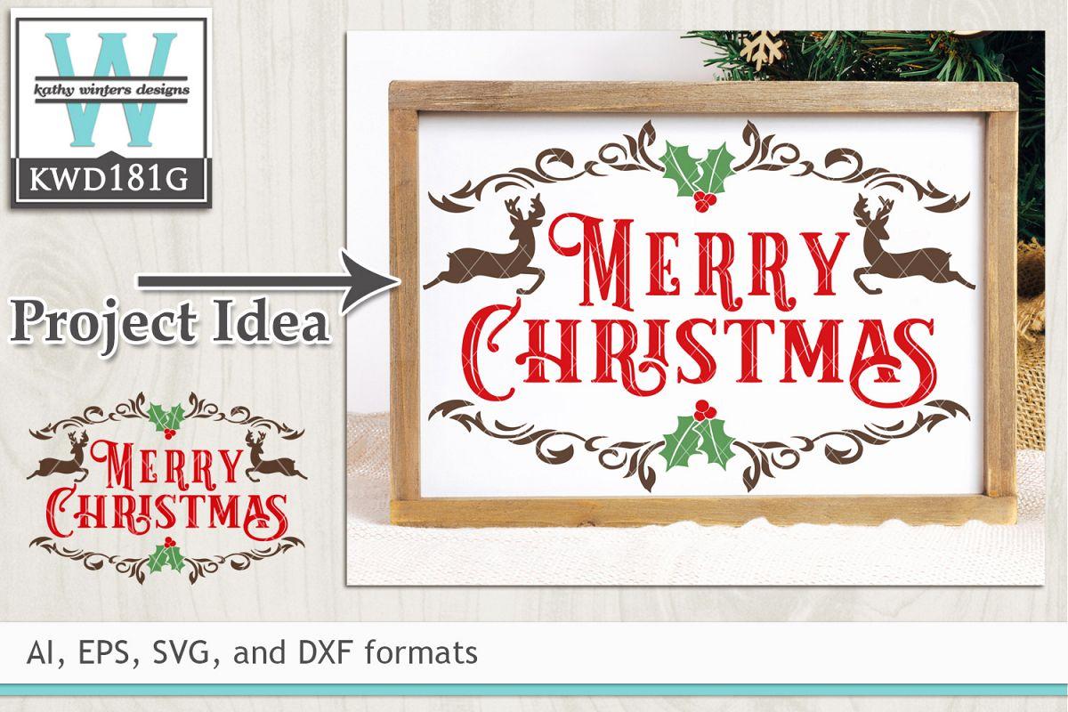 Christmas SVG - Merry Christmas example image 1