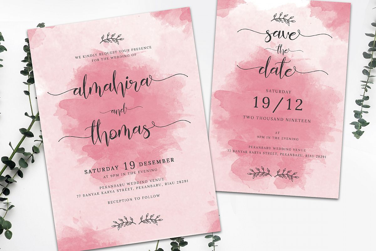 Wedding Invitation Suite vol. 01 example image 1