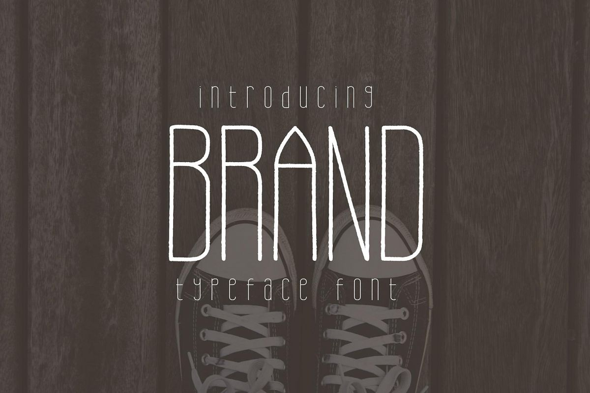 Brand Typeface Font example image 1