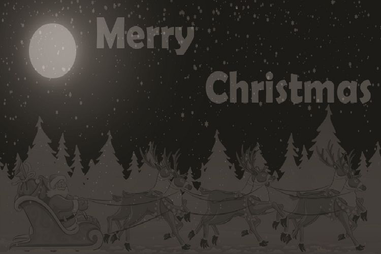 Gray Merry Christmas example image 1